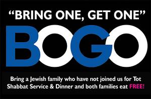 "NEW! ""BOGO"" Tot Shabbat at CAI @ Congregation Anshei Israel 