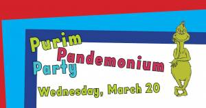 """Purim Pandemonium Party"" at CAI @ Congregation Anshei Israel 