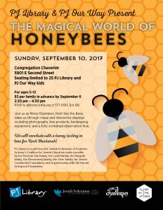 PJ Library & PJ Our Way The Magical World of Honeybees @ Congregation Chaverim | Tucson | Arizona | United States