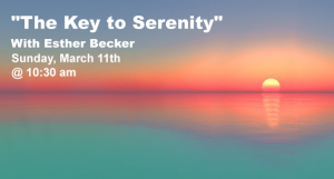 """""""The Key to Serenity"""" with Esther Becker @ Southwest Torah Institute/Women's Division of Jewish Studies   Tucson   Arizona   United States"""
