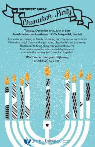Northwest Family Chanukah Party @ Jewish Federation Northwest Division | Oro Valley | Arizona | United States