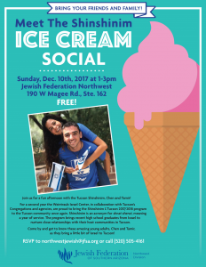 Meet the Shinshinim Ice Cream Social in the Northwest! @ Jewish Federation Northwest Division | Oro Valley | Arizona | United States