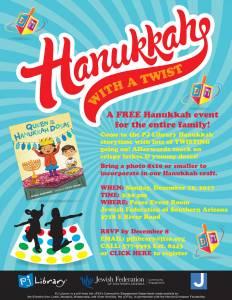 Hanukkah with a Twist! @ Jewish Federation of Southern Arizona | Tucson | Arizona | United States