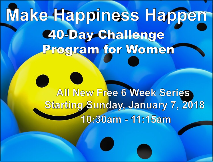 """The 40-Day Challenge"" - Make Happiness Happen with Esther Becker (Series 3) @ Southwest Torah Institute/Women's Academy of Jewish Studies 