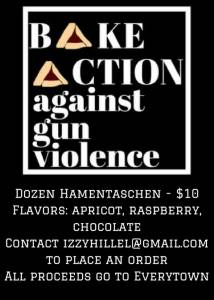 Bake Action - Hamentaschen Bake Sale for Everytown @ University of Arizona Hillel | Tucson | Arizona | United States