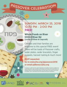 PJ LIBRARY & KESHET PASSOVER CELEBRATON @ Whole Foods River | Tucson | Arizona | United States