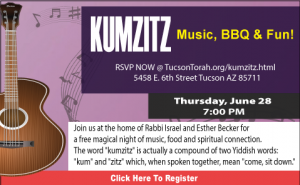 Kumzitz @ Rabbi Israel and Esther Becker's Home: Address will be provided in registration email