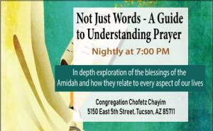 Not Just Words - A Guide to Understanding Prayer @ Chofetz Chayim | Tucson | Arizona | United States