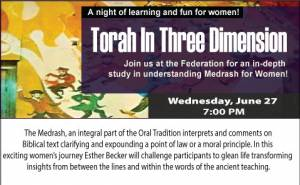 Torah In Three Dimension @ Jewish Federation of Southern Arizona | Tucson | Arizona | United States