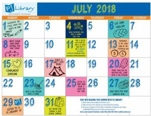 PJ Library July Reading Challenge @ Your home, on vacation, at camp - wherever!