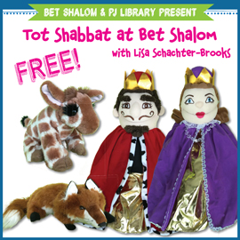 Bet Shalom & PJ Library Present Tot Shabbat @ Bet Shalom @ Congregation Bet Shalom | Tucson | Arizona | United States
