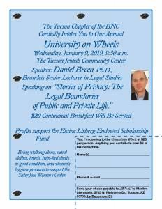 "Brandeis University on Wheels @ Tucson Jewish Community Center ""The J"" | Tucson | Arizona | United States"