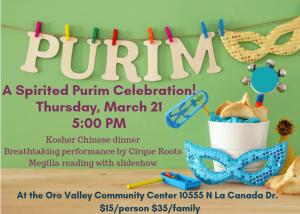 Purim in NW Tucson! @ Oro Valley Community Center