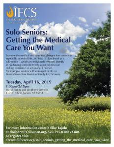 Solo Seniors: Getting the Medical Care You Want @ Jewish Family & Childern's Services