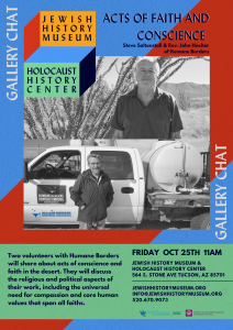 Gallery Chat: Actions of Faith & Conscience in the Desert @ Jewish History Museum
