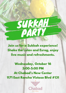 Sukkah Party @ Chabad of Oro Valley