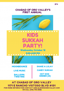 Kids Sukkot Party @ Chabad of Oro Valley