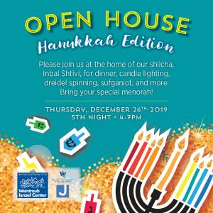 Welcome to our Open House- Hannukah Edition!