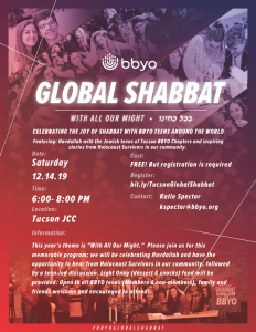 BBYO Global Shabbat @ Tucson Jewish Community Center
