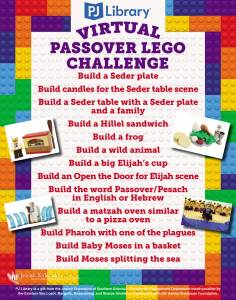 PJ Library Virtual Passover Lego Challenge Event! @ YOUR HOME!
